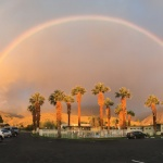Parking lot rainbow